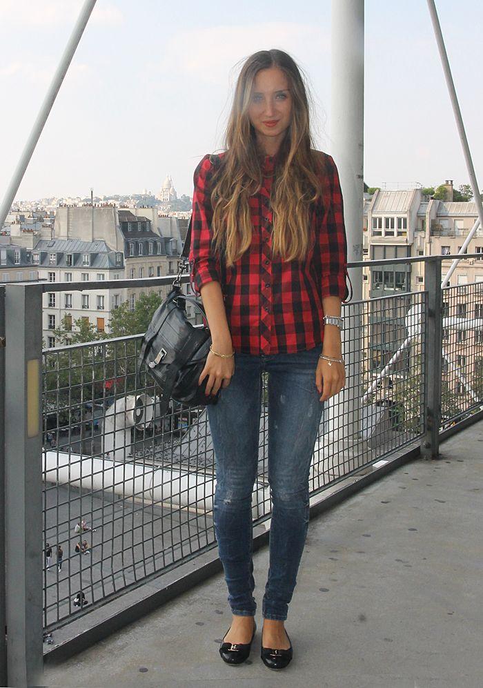 Current Elliott jeans, Ferragamo Varina flats, Proenza Schouler PS1 bag