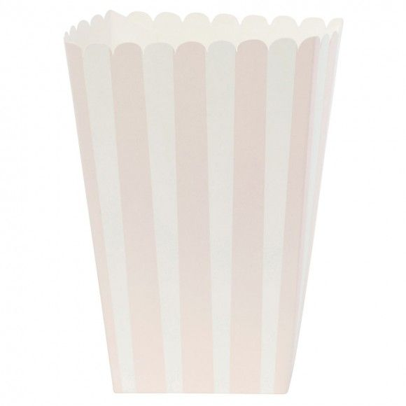 Pink popcorn tubs - pack of 6
