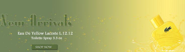 New Arrivals Perfume Lacoste Yellow For Men By Lacoste Eau De Toilette Spray 3.3 oz