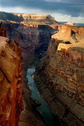 The Grand Canyon from helicopter
