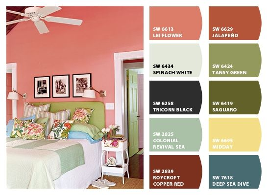 Key West Style | The photographs above the guest bed are of a young Ernest Hemingway, who lived in Key West from 1928 to 1940. Chip It! by Sherwin-Williams – Home
