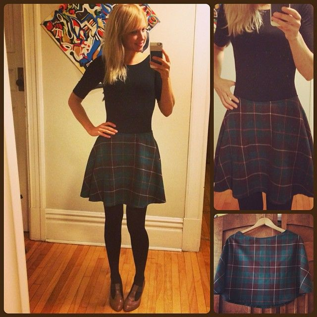 Tartan flared mini skirt!  http://tashsewsclothes.com  #salmepatterns #skirt #miniskirt #isew #memade #fallfashion #plaid #tartan #kilt #tashsewsclothes