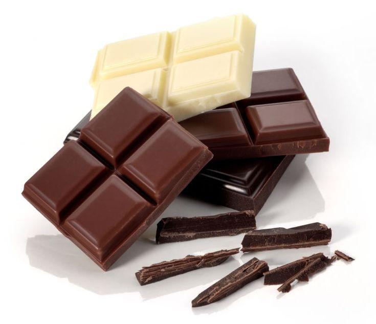 Фото белого и черного шоколада