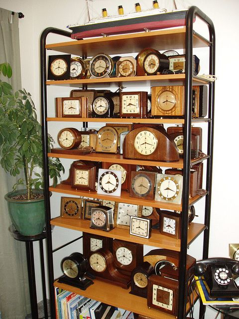 Clock collection (ClockGuyPDX, via Flickr).