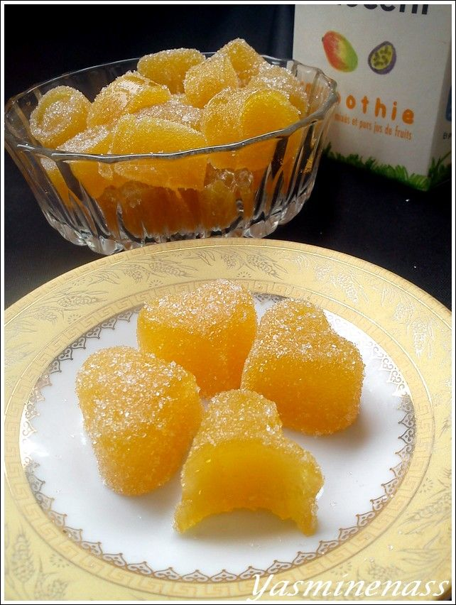 Pâtes de fruits à la mangue/fruits de la passion (à l'agar agar) - A l'orée des douceurs