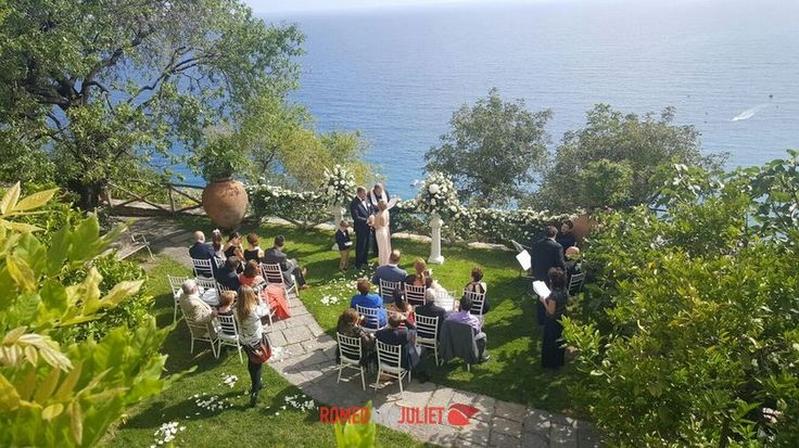 Wedding ceremony with stunning views