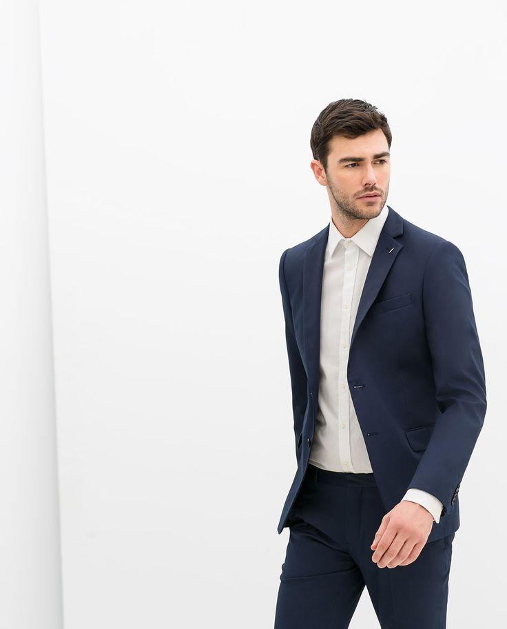 zara homme costume bleu encre mariage audrey et nicolas 2015 pinterest blue dark blue. Black Bedroom Furniture Sets. Home Design Ideas