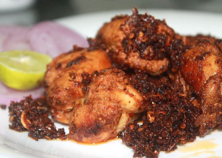 Trivandrum style chicken fry.recipe adapted from Madhyamam Ruchi.