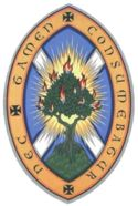 Logo of the Church of Scotland  The motto of the Church of Scotland is nec tamen consumebatur (Latin) - 'Yet it was not consumed', an allusion to Exodus 3:2 and the Burning Bush.