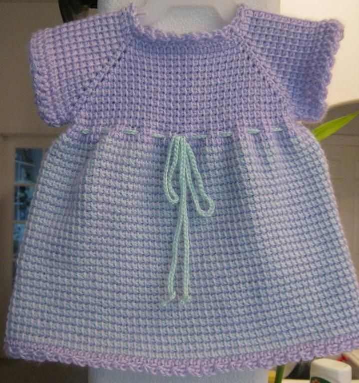 keiganmonnette — Tunisian Crochet Baby Dress