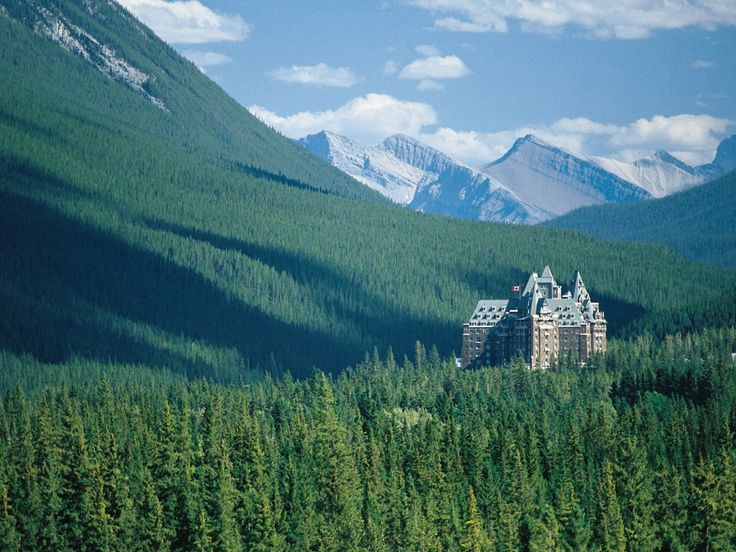 Banff Springs Hotel, Banff, Canada.  Jane and I spent our honeymoon here!