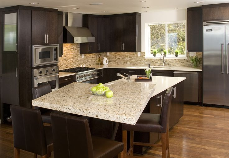 Contemporary Kitchen Pental Quartz Eggshell Counters