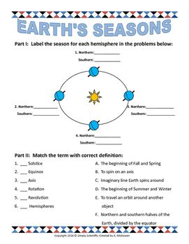 earth 39 s seasons school earth seasons seasons worksheets seasons. Black Bedroom Furniture Sets. Home Design Ideas