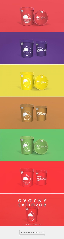Ovocný světozor / ice cream packaging concept by Lukáš Nádvorník