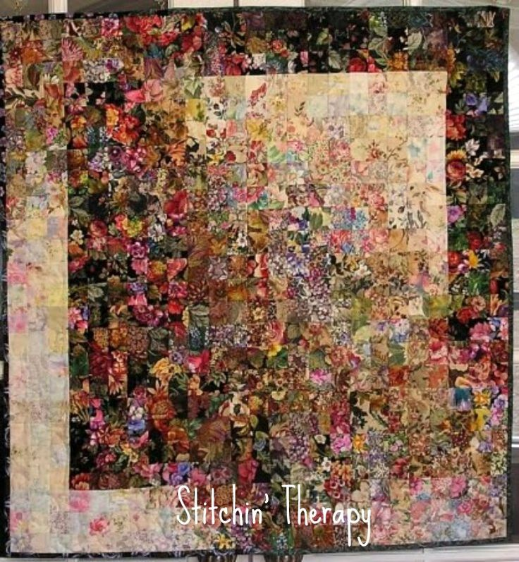 Shadows Fall, Stitchin' Therapy: Watercolor Quilts
