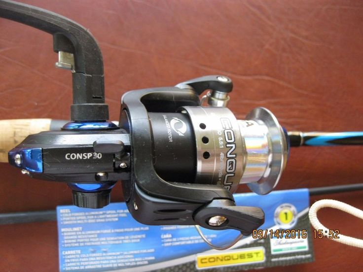 SHAKESPEARE CONQUEST COMBO 6' SPINNING ROD AND REEL 6' Med 6-12lb 2 Pcs…