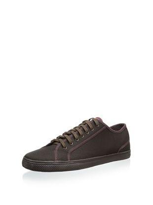 64% OFF Ben Sherman Men's Breckon Low Twill Sneaker (Maroon)