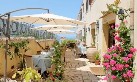 """The Hotel Torre Bennistra, Scopello in Sicily, a place I've wanted to visit since reading """"Omerta"""" 10 years ago."""