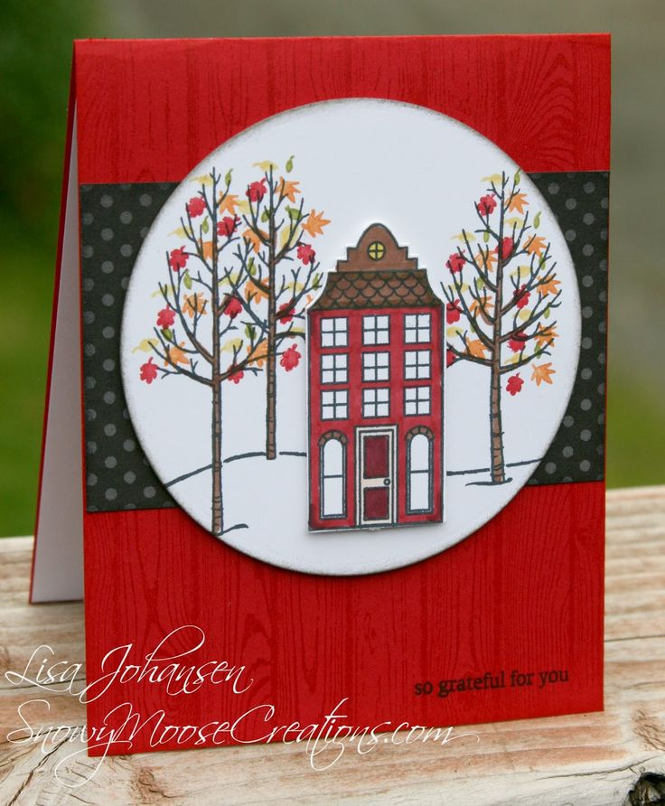 Snowy Moose Creations FM163 Stampin Up Holiday Home Stampin Up White Christmas