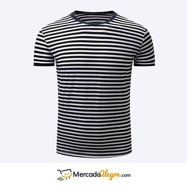 Las camisetas a raya se han usado por muchos años, y nunca dejan de dar el toque especial para un atuendo #informal.   Es una prenda confiable.  Si estas en Colombia puedes adquirirlas comunicándote al siguiente número: +57 300 800 4315.  .  .  .  .  .  .  .  .  #Colombia #Compras #Medellin #Mercado #Bogota #Cali #followforfollow #Moda #Ropa #Ventas #Mercado #Alegre #Pereira #SantaMarta #Barranquilla #vistealamoda #free #Happy #cartagena