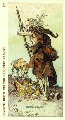 """Albrecht Durer  Tarot Major Arcana card 13 """"Death"""""""