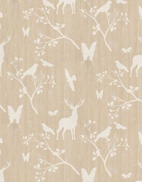 Neo by Brewers - This wallpaper is so much fun; it's got some sweet and slightly kitschy silhouettes overlaid upon a wood grain background. ...