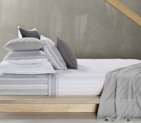 Designers Choice   Winston Grey Flannelette Sheet Set #bedlinen