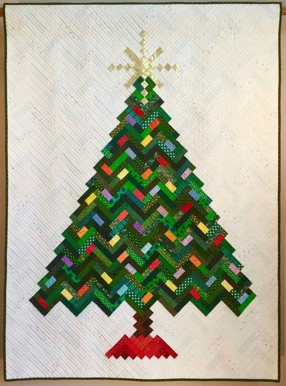 Pin By Gloria Badgett On Scrappy Quilts Christmas Tree