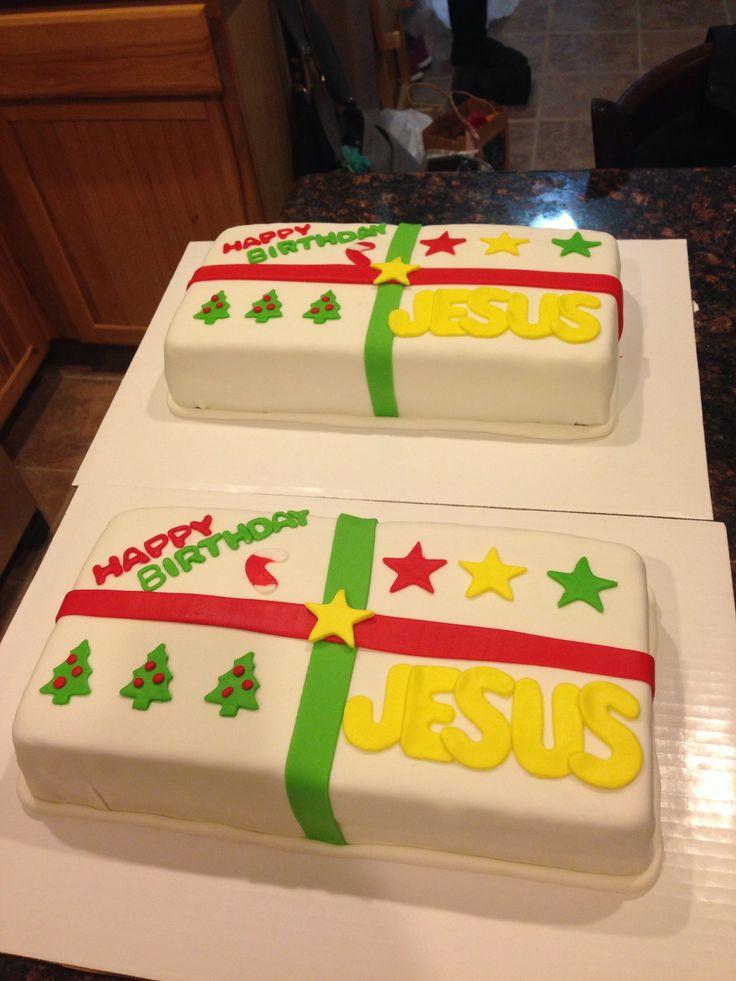Happy Birthday Jesus cakes by Lindsay Estep