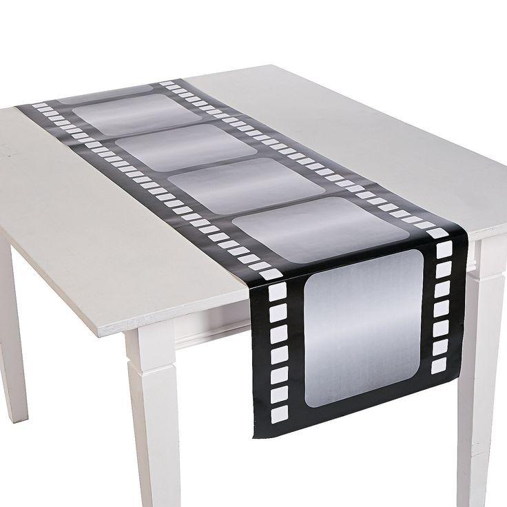 To hang around Marilyn Monroe and Audrey Hepburn   Premier Night Table Runner - OrientalTrading.com