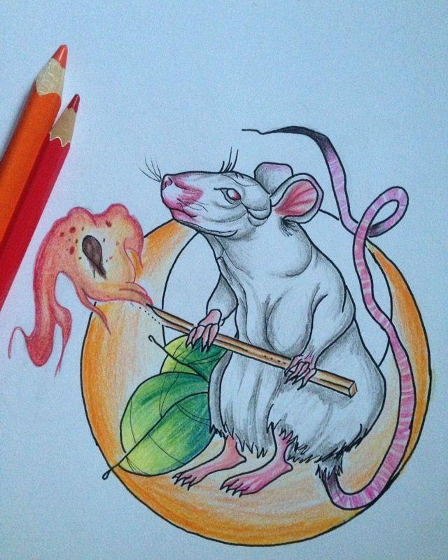 neotraditional rat burning