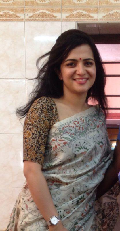 Like da kalamkari blouse n kanta work combination