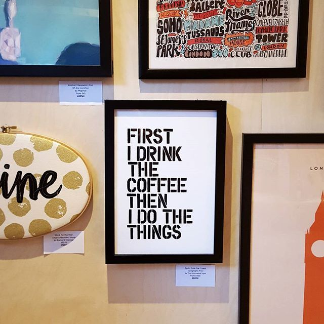 MORNING. If you're in Manchester today, pop into the @notonthehighstreet colour truck in Spinningfields. Lots of fab personalised ideas for Christmas pressies. This print from @motivated_type is on my list for sure! I'll pop some previews on my Insta Stor