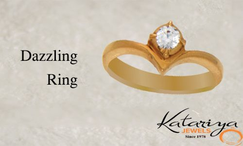 Gold Ring With White Stone  Buy Now :http://buff.ly/1NZchds COD Option Available With Free Shipping In India
