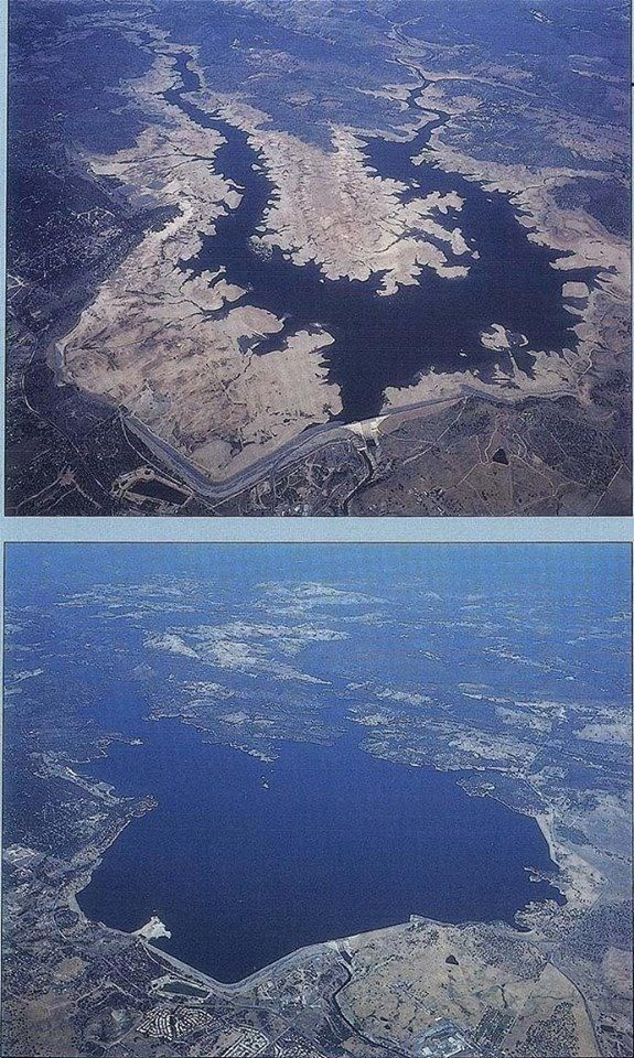 Folsom Lake is drying up! Jan 2014