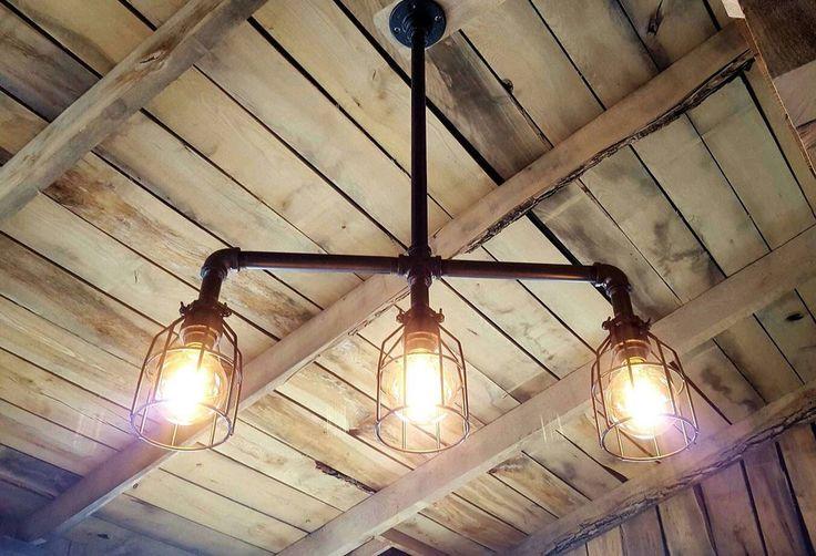 Rustic Industrial Edison Bulb Iron Pipe Pool Table Light - --Gameroom Goodies Pool Table Lights - 3