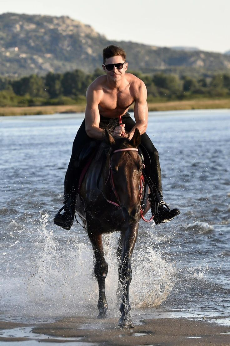 A Collection Of Photos Of Zac Efron Riding A Horse Shirtless That Will Change Your Life