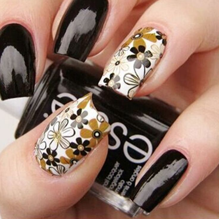 1X Beaty fleur Nail Art stickers eau transfert autocollant feuille sur le doigt ongles autocollants pour femmes minion Nail Sticker decasl ST 07 dans Stickers et décalcomanies de Health & Beauty sur AliExpress.com | Alibaba Group