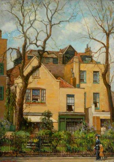 Charles Dickens' House at Dulwich, London by William Janes Fox (British 1872-1948)
