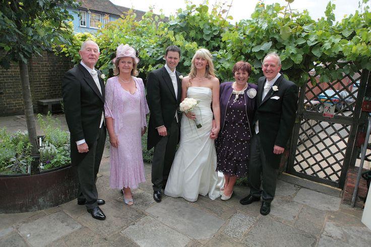Family wedding photograph shot at Shepherd Neame