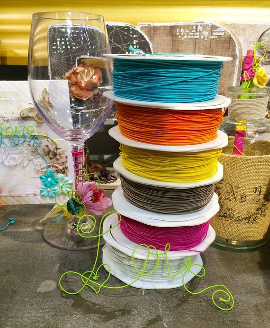 CHA Wrap-Up! Wire thread-you are going to need this in every color! It's bendable, fun and so cool! You can also custom color with our new Color Bloom sprays! #DIY #weddings #wire