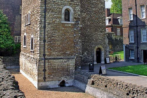 London, England--The medieval Jewel Tower was once the treasure house of Edward III