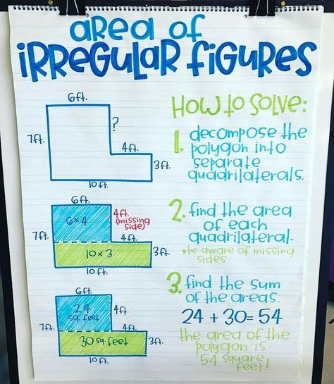 "Amy Groesbeck on Instagram: ""Area of irregular figures, can you not?"