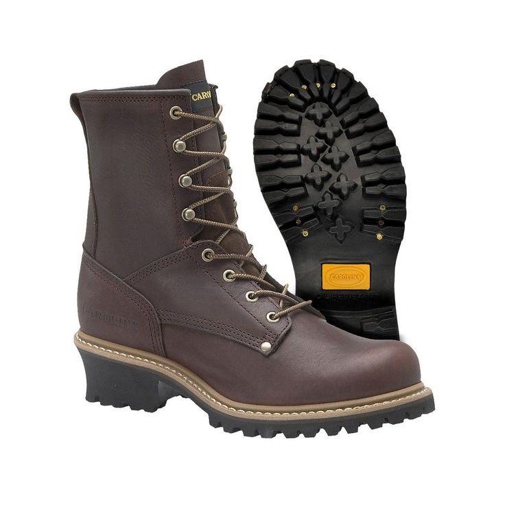 Carolina Steel Toe Logger Boot (CA1821) - Brown