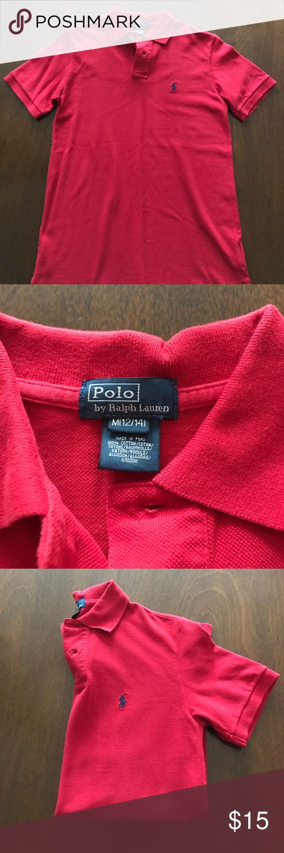 Boys POLO Ralph Lauren Polo Boys POLO Ralph Lauren short sleeve polo.  Red. Size M 12/14. Excellent used condition. Polo by Ralph Lauren Shirts & Tops Polos