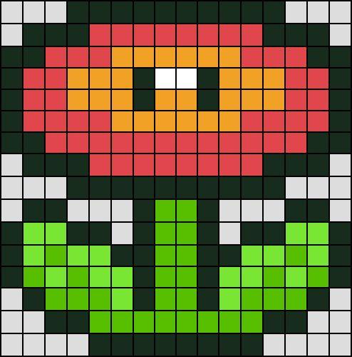 Les 25 meilleures id es de la cat gorie pixel art sur - Grille un feu orange combien de point ...