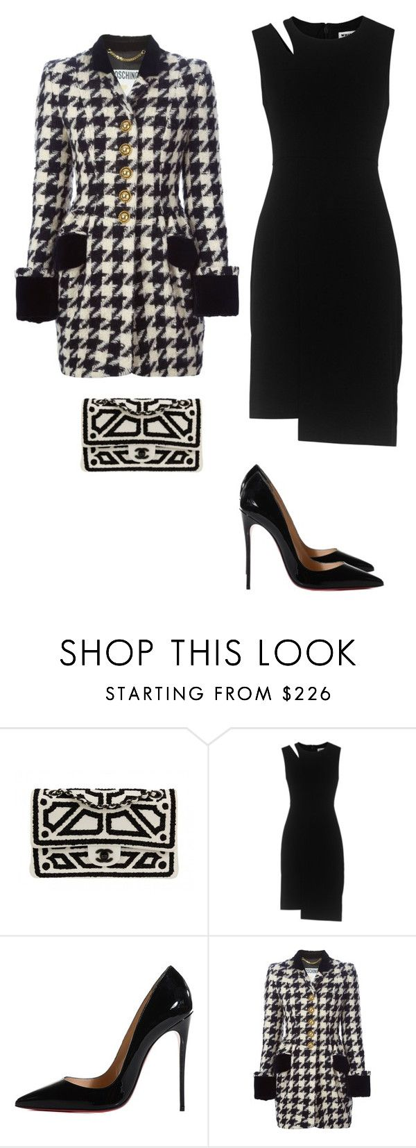 """#sintitulo50"" by sofi-crabbe on Polyvore featuring moda, Chanel, Whistles, Christian Louboutin y Moschino"