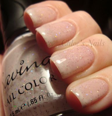 Semi sheer with just the right amount of speckled glitterBeautyful Nails, Natural Nails With Glitter, Chloe Nails, Nails Sweets Freedom, Summer Nails, Nails Games, Nature Nails With Glitter, Sparkle, Glittery Nails