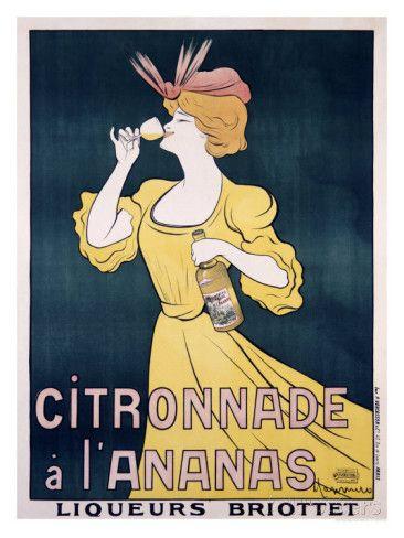 Reclameposter Citronnade ananasdrank Gicléedruk van Leonetto Cappiello bij AllPosters.nl