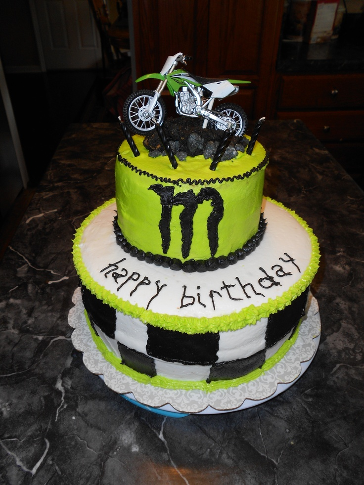Monster Energy Birthday Cake